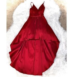 Dresses & Skirts - Red asymmetrical gown